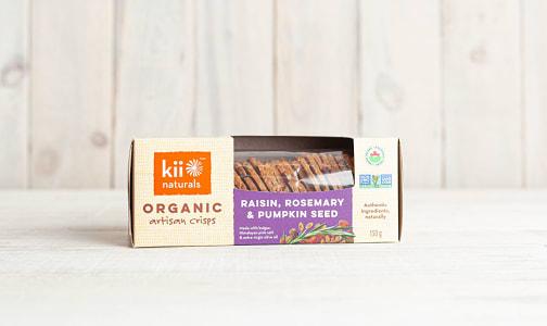 Organic Raisin, Rosemary & Pumpkin Crisps- Code#: SN8301