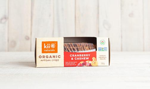 Organic Cranberry & Cashew Crisps- Code#: SN8302