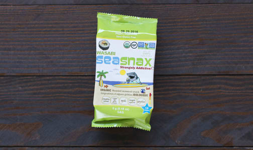 Organic SeaSnax Seaweed Grab & Go Wasabi- Code#: SN841