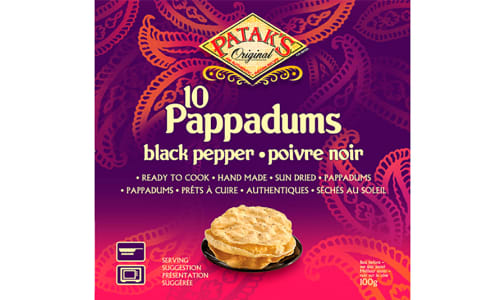 Pappadums - Black Pepper- Code#: SN8420