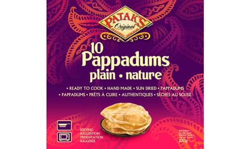 Pappadums - Plain- Code#: SN8424