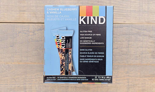Blueberry Vanilla Cashew Bar - CASE- Code#: SN8705-CS