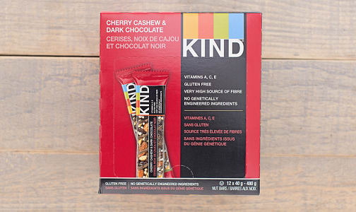 Dark Chocolate Cherry Cashew Bar - CASE- Code#: SN878-CS