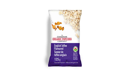 Organic Old Fashioned English Toffee Popcorn- Code#: SN9132