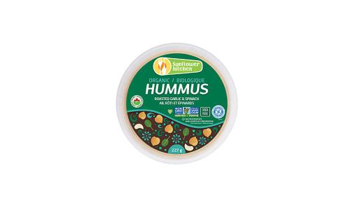Organic Hummus - Roast Garlic & Spinach- Code#: SP0024