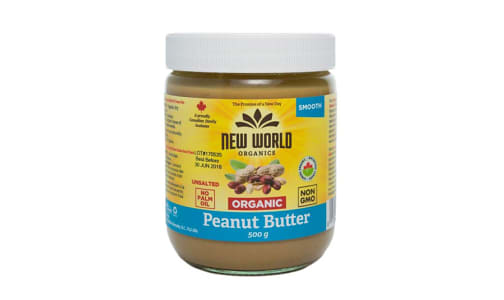 Organic Peanut Butter - Smooth, Unsalted, Organic- Code#: SP0091