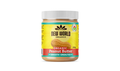 Organic Peanut Butter - Smooth, Unsalted- Code#: SP0091