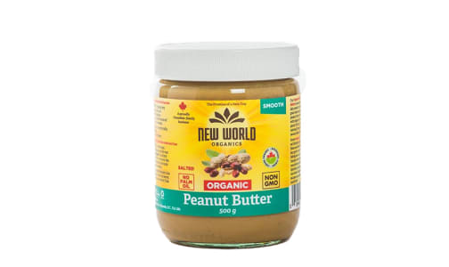 Organic Peanut Butter - Smooth, Salted, Organic- Code#: SP0092