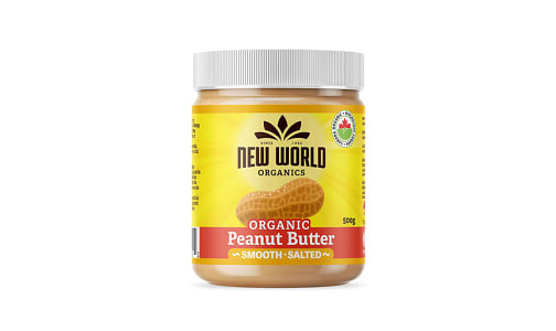 Organic Peanut Butter - Smooth, Salted- Code#: SP0092
