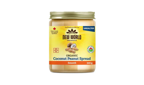 Organic Coconut Peanut Spread - Smooth, Unsalted, Organic- Code#: SP0098