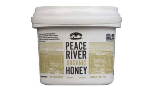 Organic Peace River Creamed Honey, Pail- Code#: SP0199