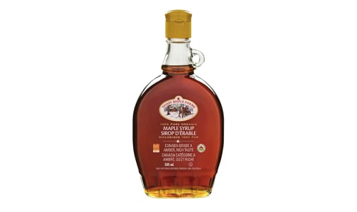 Organic Amber Maple Syrup, Rich- Code#: SP0246