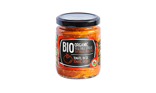 Organic Vegetable Spread (tomato, basil)- Code#: SP1304