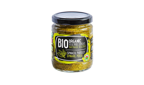 Organic Vegetable Spread (spinach, parsley- Code#: SP1305
