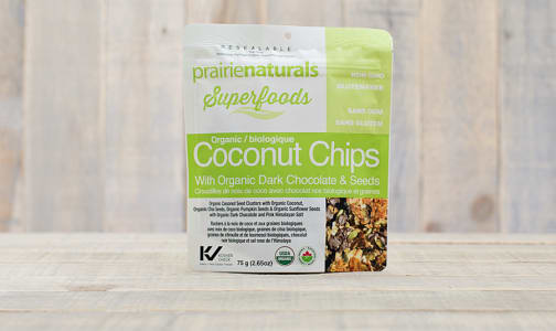 Organic Coconut Seed Snacks with Dark Chocolate- Code#: VT0025