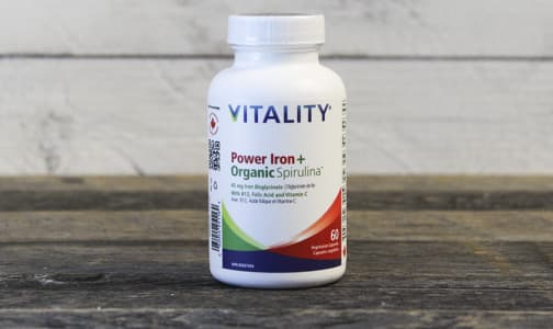 Organic Power Iron + Spirulina- Code#: VT0028