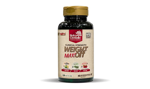 NutraCentials WeightOFF MAX! Weight Loss Formula- Code#: VT0098