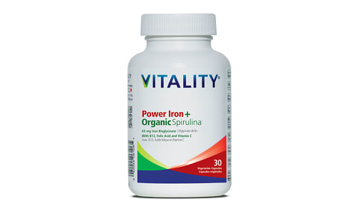 Organic Power Iron + Spirulina- Code#: VT0262