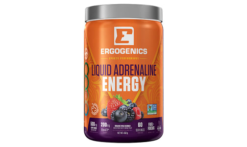Organic Liquid Adrenaline Energy - Berry- Code#: VT0272