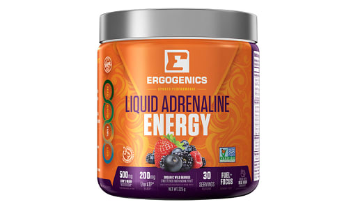 Organic Liquid Adrenaline Energy - Berry- Code#: VT0273