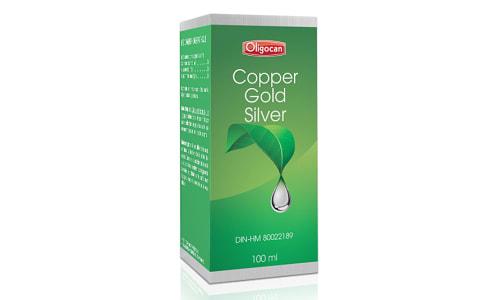 Copper-Gold-Silver - Trace Minerals- Code#: VT0597