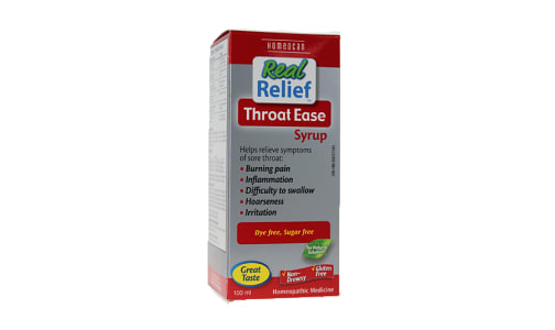 Real Relief - Throat Ease Syrup- Code#: VT0703