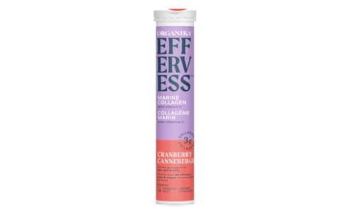 Effervess Collagen with Vitamin C Tablets - Cranberry- Code#: VT0864