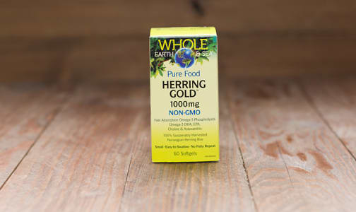 Whole Earth & Sea Herring Gold Omega-3 1000mg- Code#: VT1124