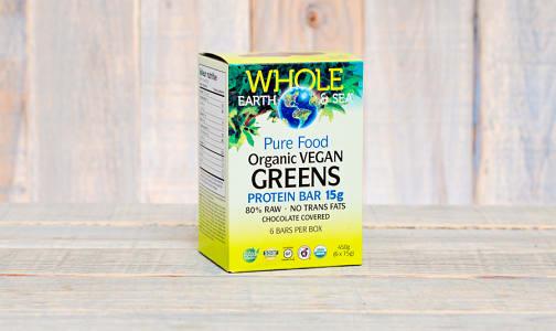 Organic Whole Earth & Sea Greens 15g Protein Bar - CASE- Code#: VT1125-CS