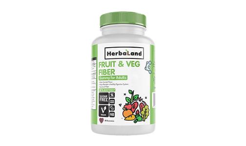 Organic Gummy for Adults: Organic Fruit, Veg and Fiber- Code#: VT1182