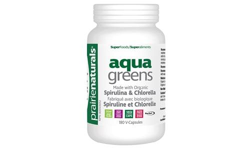 Organic Aqua Greens - Spirulina & Chlorella- Code#: VT1239