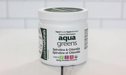 Organic Aqua Greens - Spirulina & Chlorella Powder- Code#: VT1240