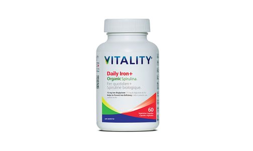 Daily Iron and Organic Spirulina- Code#: VT1858