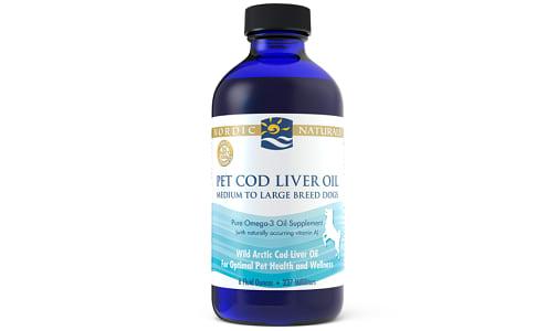 Pet Cod Liver Oil, Unflavoured- Code#: VT1918