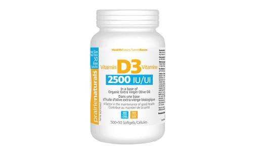 Vitamin D3 Cholecalciferol 2,500 IU in Organic Extra-Virgin Olive Oil- Code#: VT2166