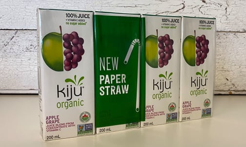 Organic Grape & Apple Juice Boxes- Code#: DR066