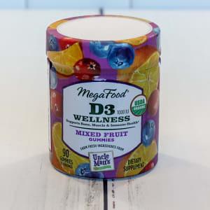 Organic Vitamin D3 Wellness (1000 IU) Mixed Fruit Gummies- Code#: PC2467