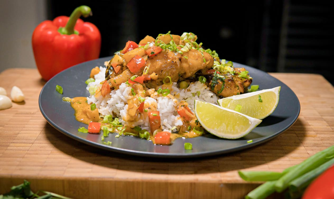 Gluten Free Thai Coconut and Pineapple Chicken