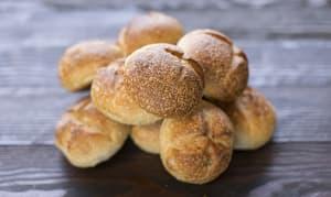 Sourdough Rolls, Round - Yeast, Sugar & Fat Free- Code#: BR434
