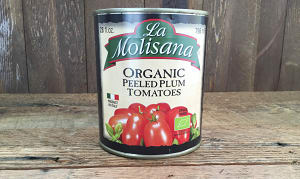Organic peeled Plum Tomatoes Organic- Code#: BU8033