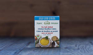 Organic Chicken Bouillon Cubes - No Salt Added- Code#: BU945