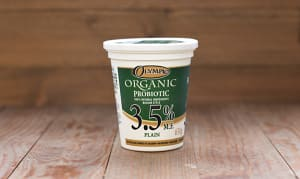 Organic Plain Yogurt - 3.5% MF- Code#: DA372