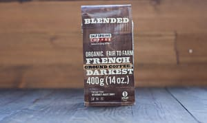 Organic French Roast Dark Coffee, Ground- Code#: DR115