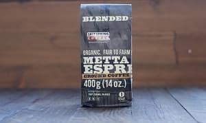 Organic Metta Espresso Dark Coffee, Ground- Code#: DR127