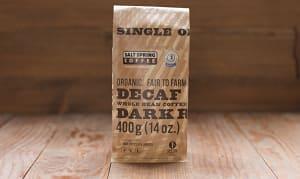 Organic Decaf Dark Coffee, Whole Bean- Code#: DR138