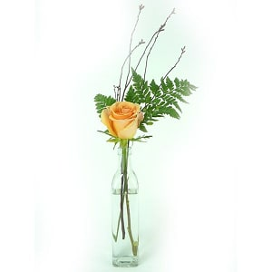 Asstorted Rose Arrangement in Glass Bottle- Code#: FF1241