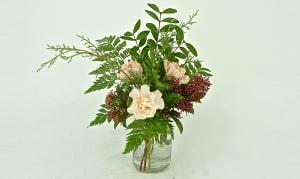 Vintage Canning Jar Floral Arrangement- Code#: FF1951