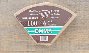 6 Cup Unbleached Coffee Filters- Code#: KG0001