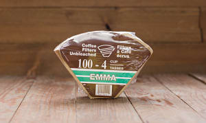 Unbleached 4 Cup Coffee Filters- Code#: KG601