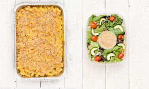 Classic Mac and Cheese & Salad (Frozen)- Code#: LLK105